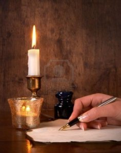 5601663-hand-writing-on-parchment-with-a-golden-pen